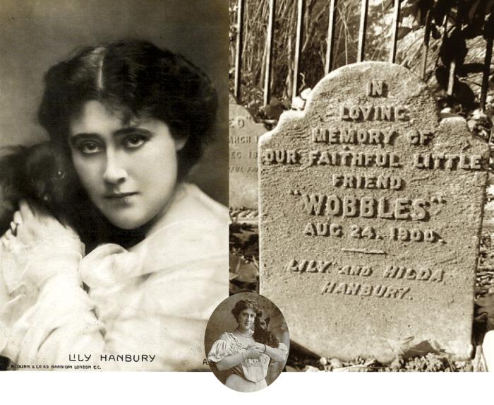 Wobbles Hanbury   Crónica social de 1903    Perrillos del halda ilustrados